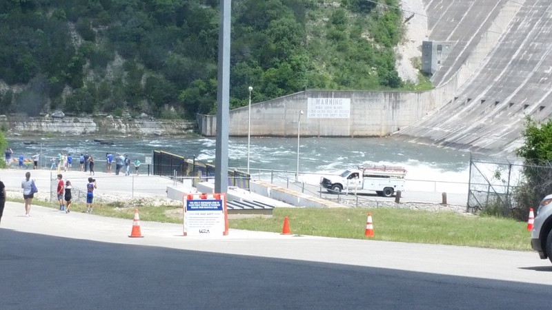 LCRA opened one gate at Mansfield Dam which feeds Lake Austin.