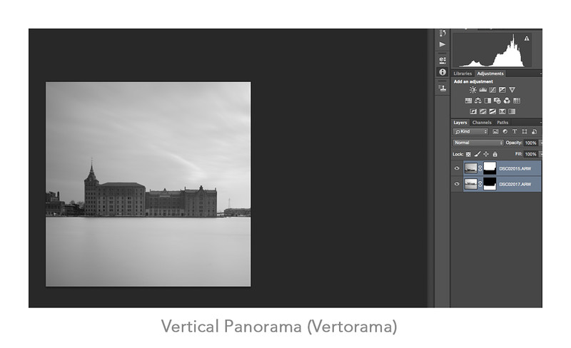 Unprocessed raw files layered to make a Vertorama