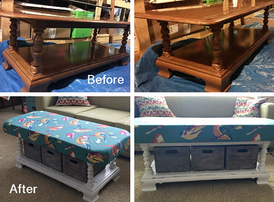 Padded Ottoman Table 1
