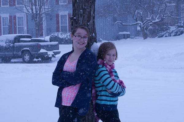 Girls Facebook snow
