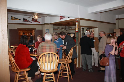 Reception prior to the honor ceremony