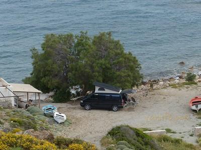 Psathi beach campsite