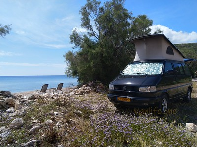 Tria Pigadia beach campsite