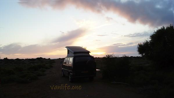 Elaia beach sunset