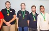 Medal ceremony - world youth open championship teams - bronze medals winners inc. Shivam Shah (right)