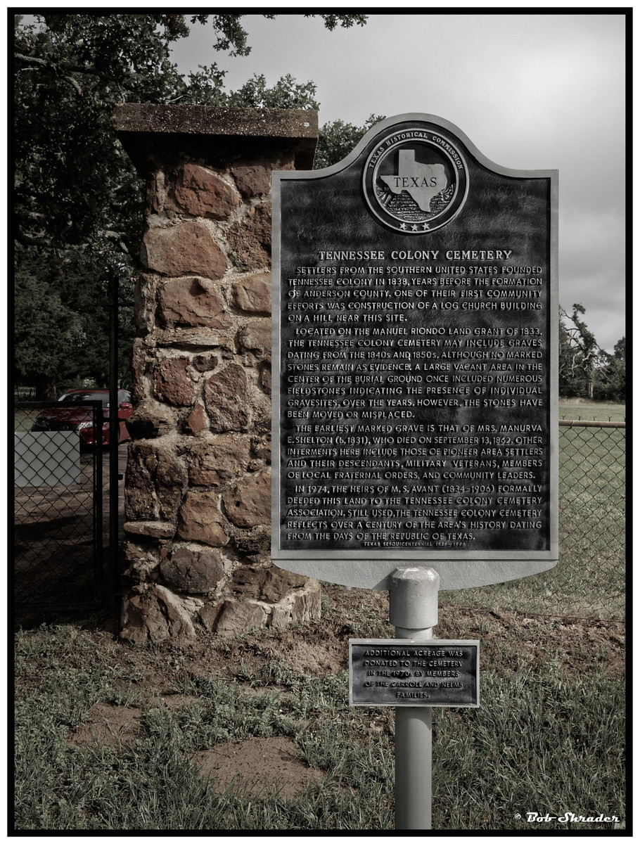 Tennessee Colony Cemetery Marker