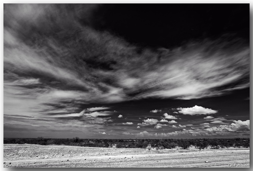West Texas Sky in B&W