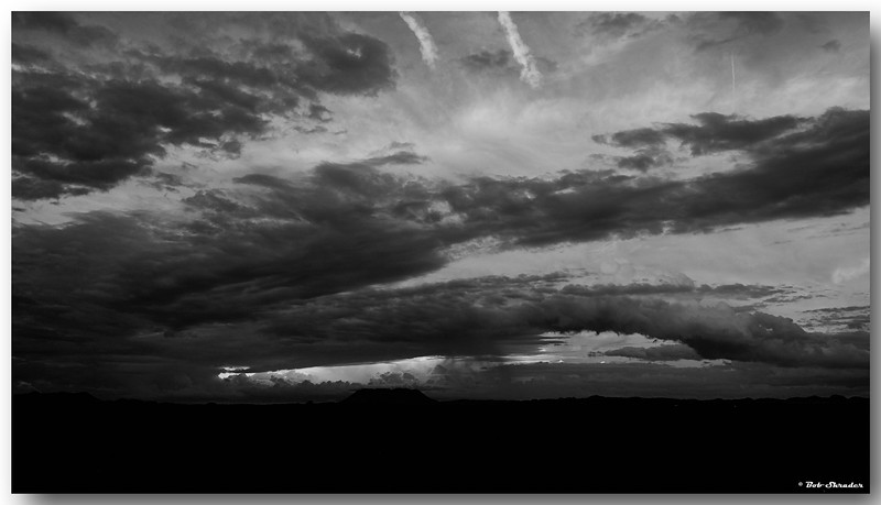 West Texas Sunset in B&W