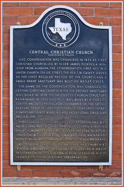 Central Christian Church Marker