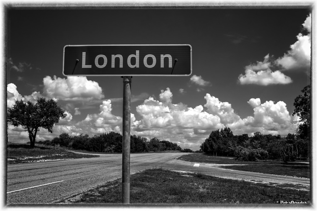London Sign in Monochrome