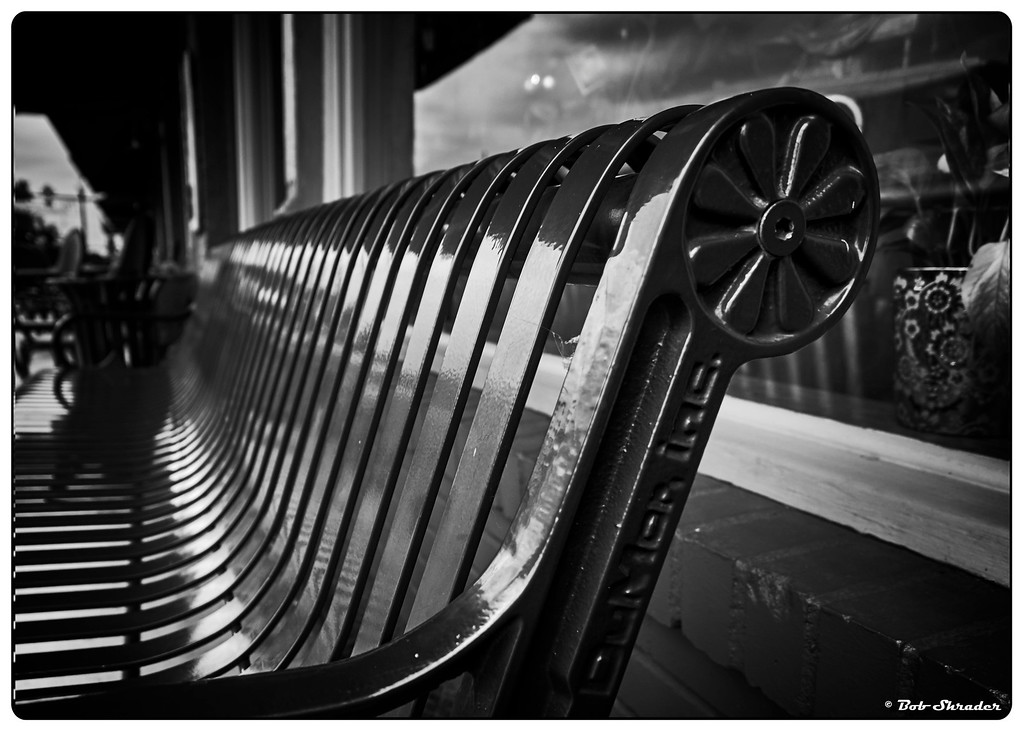 Bench in Black and White