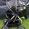 Freshly washed Shuttle stroller ready for drying.
