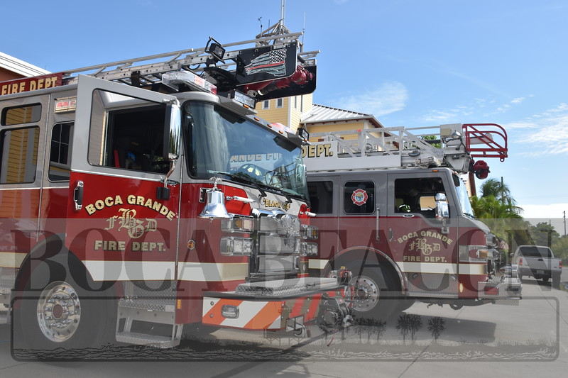 75th anniversary of the Boca Grande Fire Department and Fire Safety Week with island kids