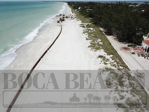 Beach renourishment time on Gasparilla Island