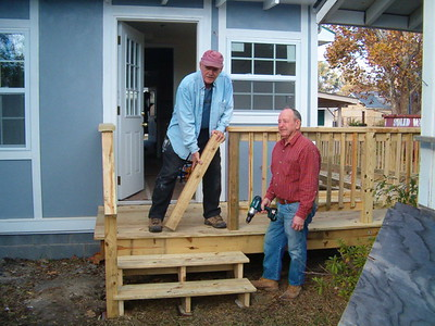 After nearly 3 months of work, this house on Elmer Street in east Biloxi is almost done. ab