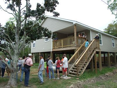 09 03-18  Fuller Center Disaster ReBuilders who helping Katrina victims are dedicating another house.  fb