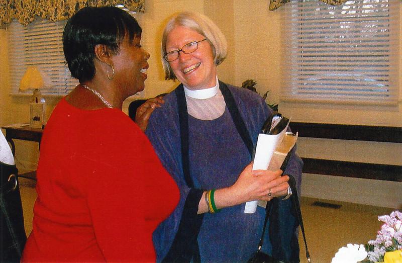 Mrs. Vickie Hammie, Senior Warden, left, with Rev. Christine Jayden-Trevers, Supply Priest