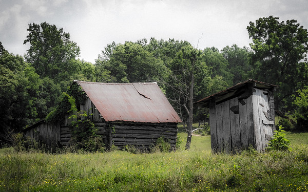 Old Home and Outhouse