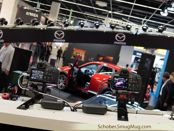 taking 360 degrees photos of a Mazda