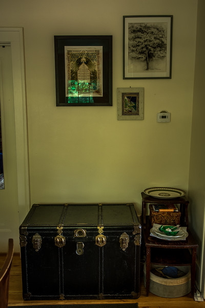 Some of Dan and Jamie's stuff, including their ketubah.