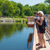 Pam and Jamie on a dam on the Huron River, Ann Arbor, Michigan.  June, 2016.