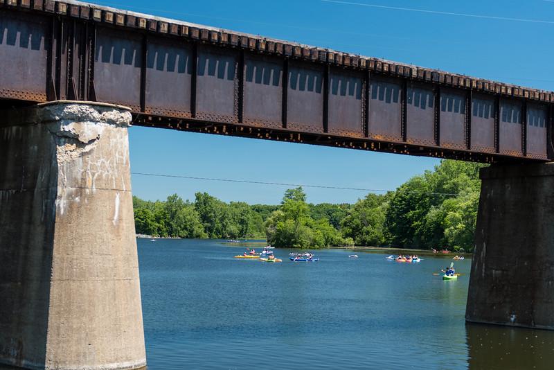 Huron River, Ann Arbor, Michigan.  June, 2016.