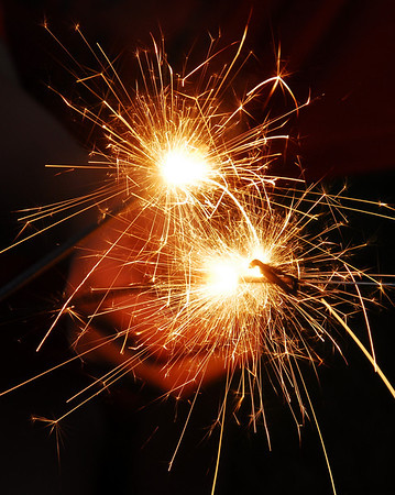 Sparklers at 4th of July Celebration