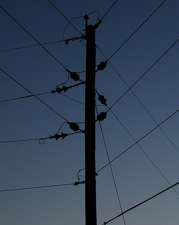 Telephone Pole Wires near Marion, Kansas