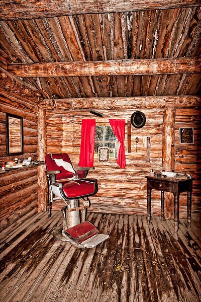 Barber Shop in EM-TE Town, AB, Canada