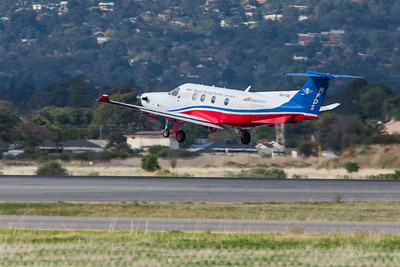 Pilatus PC-12 VH-FVB of the RFDS rotates on 05