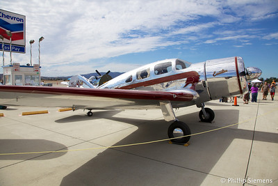 1937 Spartan Executive. 450 HP, 200 mph. 34 built, 1 of 6 still flying. Owner Steve Marini