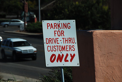 Parking for Drive-Thru Customers - Huh???