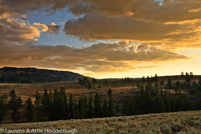 Sunset at Lamar Valley