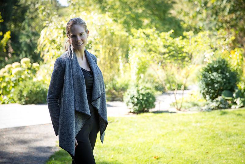 Emily at Bellevue Botanical Gardens.