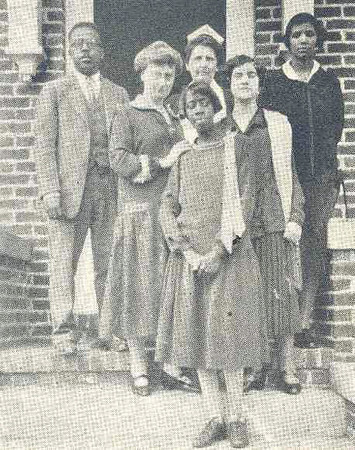 Faculty of the Tuttle Training School - Dean Bertha Richards stands second from left.