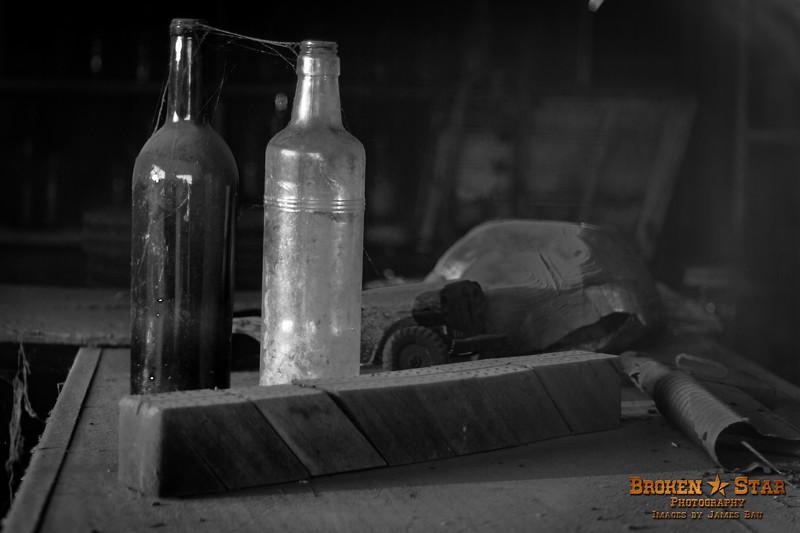 Bottles Frozen in Time