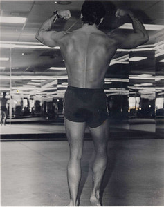 Golds Gym Houston Texas, Practicing My Posing Routine For Upcoming Contest.