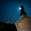 Stupa in fullmoon