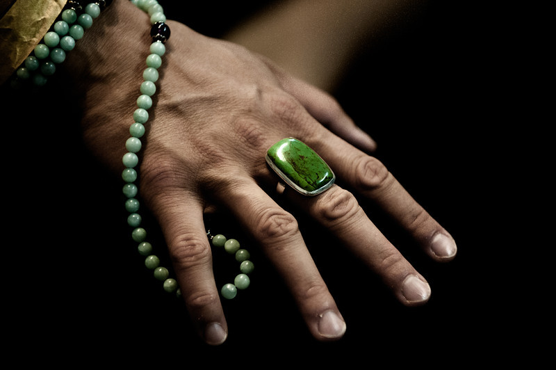 Green ring and mala