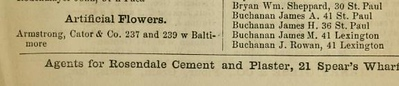 239 W Baltimore (Armstrong, Cator & Co) Woods' Baltimore city directory (1868-69)