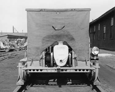2017.17.P.008--mcrm collection 8x10 print--CB&Q--Fairmont track speeder--Chicago IL--1951 0309