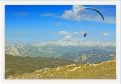 Up and Away Paragliding in Salzkammergut Looking north from Krippenstein