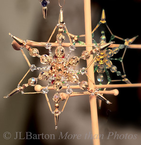 More hand-made Christmas ornaments 2011-12-16  Continuing the Advent theme - do you have a star for your tree?  This one isn't for the top, just to hang.  Enjoy your day!