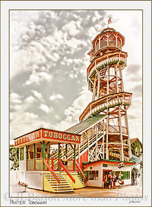 Prater Toboggan The only remaining wooden slide worldwide Original from 1913, rebuilt 1947, closed 2000, opened again 2009