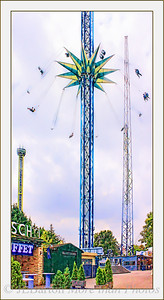 Prater Ringelspiel With two other 'high flying' modern attractions in the background