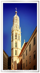 Maria am Gestade Gothic tower from the 14th century Traditional church of the boatmen on the Danube