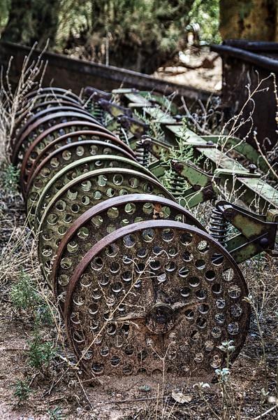 Relic outside Casa Grande Trading Post, Cerrillos, New Mexico