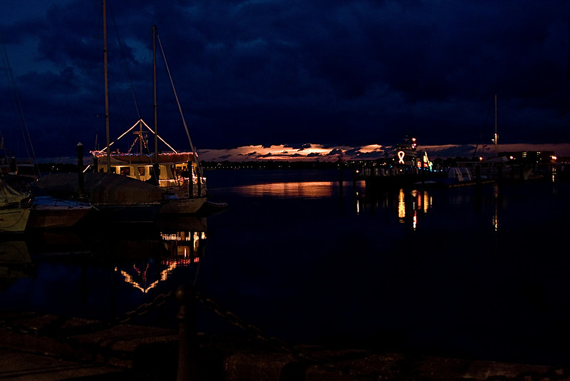 <center>Sunset Reflections <br><br>Long Wharf<br>Newport, Rhode Island</center>