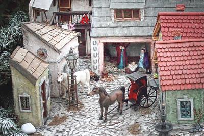"""An """"Altwiener"""" creche scene as an Advent Market in Vienna."""