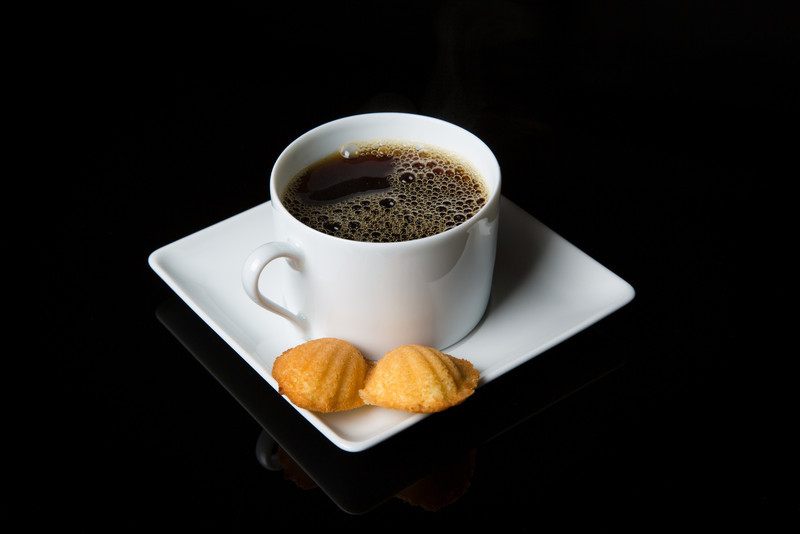Coffee and madeleines.